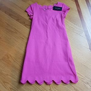 Sara Campbell Boston New Pique Scalloped Dress sm